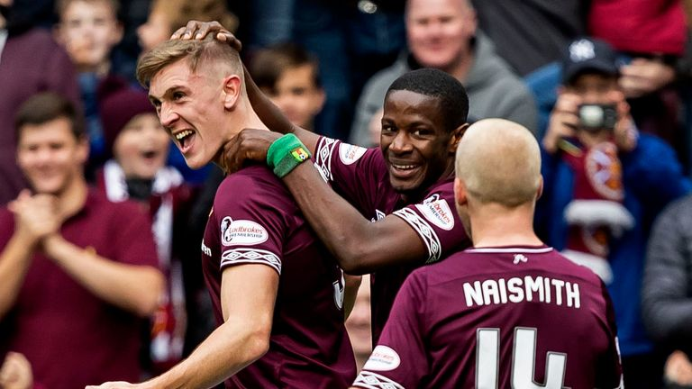 Hearts are currently top of the Scottish Premiership table