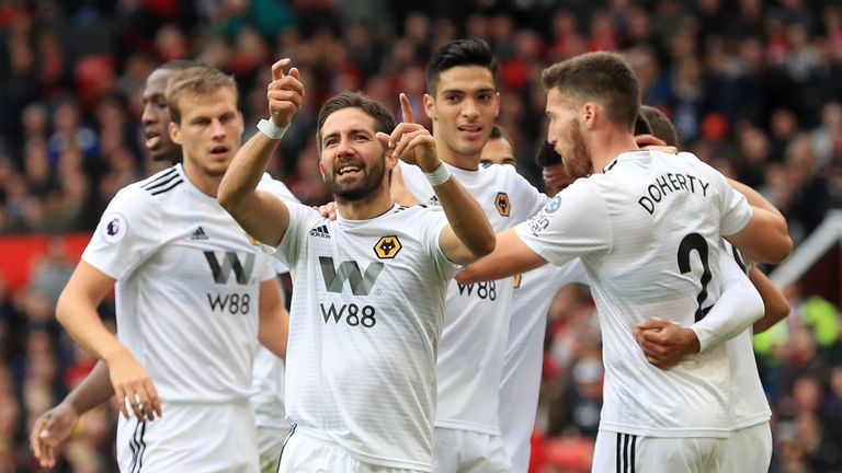 Joao Moutinho celebrates his equaliser