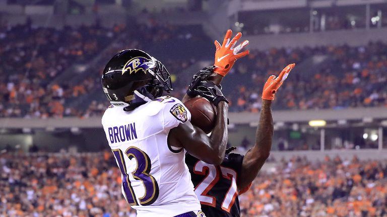 John Brown elevates above Dre Kirkpatrick to score for the Ravens