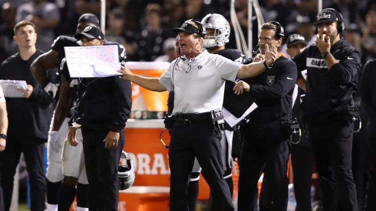 Jon Gruden has signed a 10-year, $100 million deal to be head coach of the Raiders
