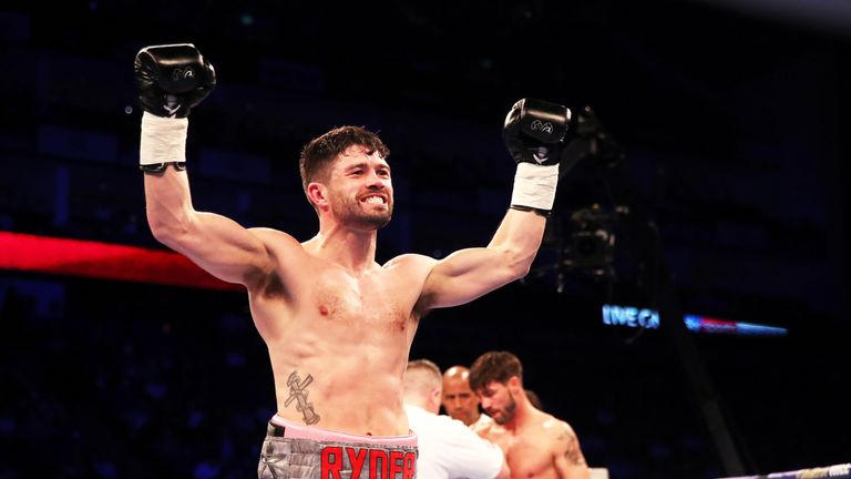 John Ryder celebrated a stunning win over British rival Jamie Cox