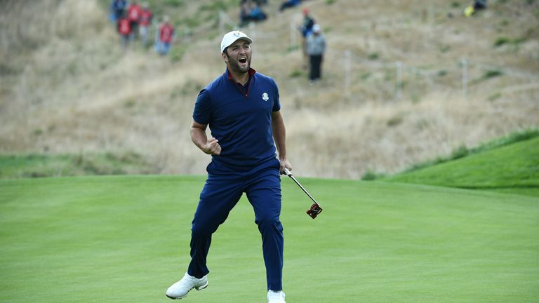 Jon Rahm beat Tiger Woods in the Sunday singles during his rookie appearance in 2018