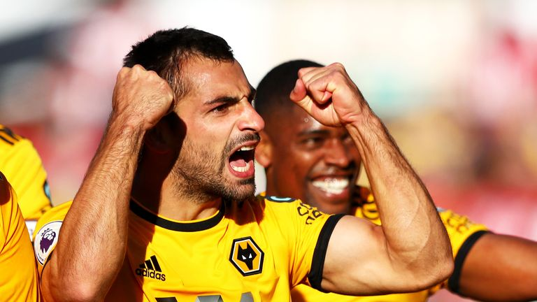 Jonny during the Premier League match between Wolverhampton Wanderers and Southampton FC at Molineux on September 29, 2018 in Wolverhampton, United Kingdom.