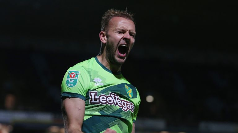 Jordan Rhodes scored a hat-trick for Norwich
