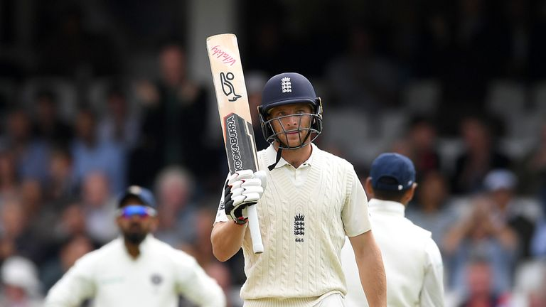 Jos Buttler is England's top run-scorer in the series with 349 runs