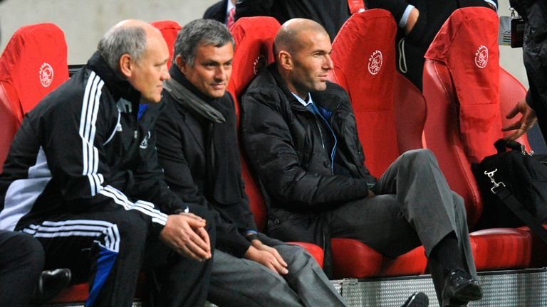 Zidane has been linked with replacing Jose Mourinho at Manchester United