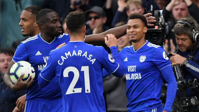 Josh Murphy equalised for Cardiff with his first goal for the club