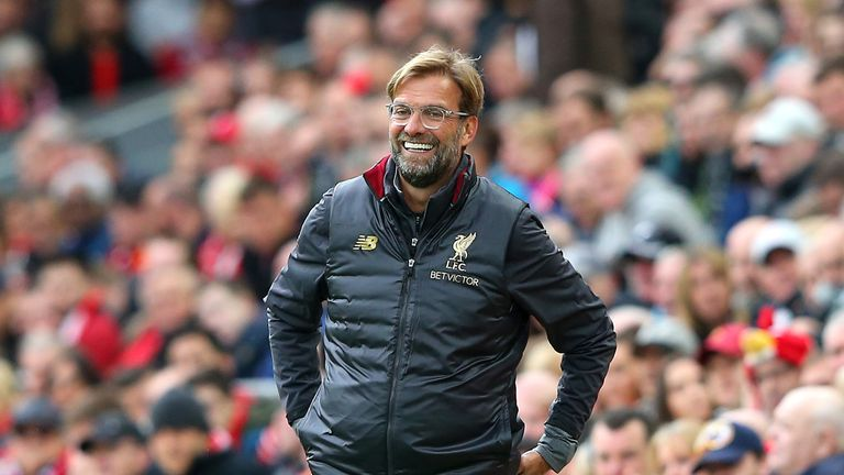 Jurgen Klopp's Liverpool are top of the table after six straight wins