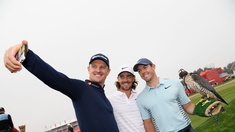 Rose joined Tommy Fleetwood and Rory McIlroy in competing at the Abu Dhabi HSBC Golf Championship in January