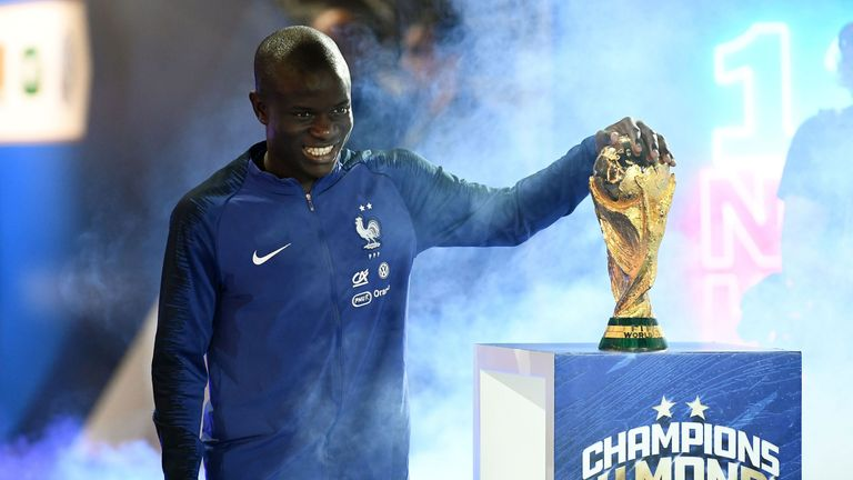 Kante helped France to World Cup glory in Russia