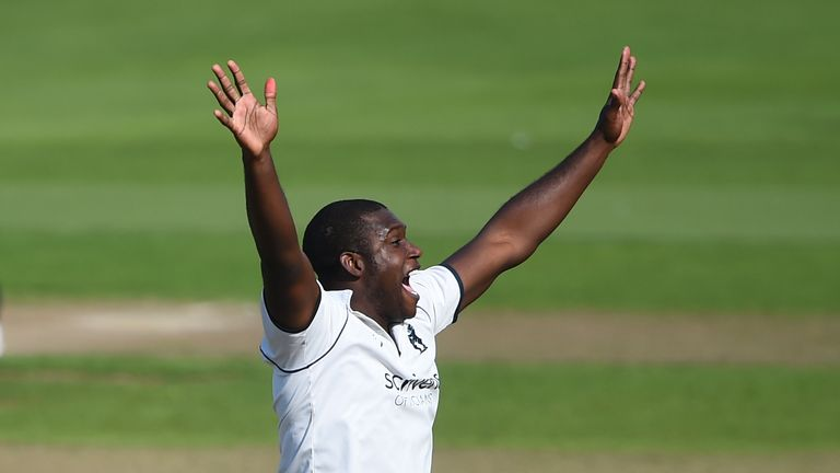 Keith Barker took eight wickets in the match as Warwickshire won