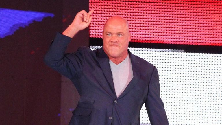 Kurt Angle has been off of Raw for several weeks