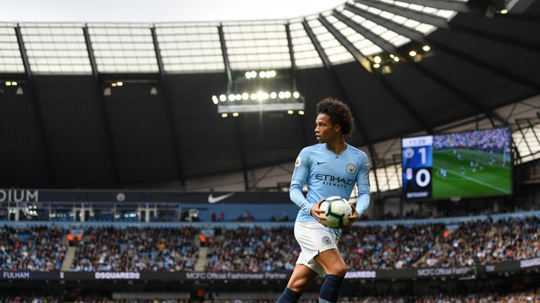 Leroy Sane scored one goal in the victory over Fulham, but could have had two under VAR
