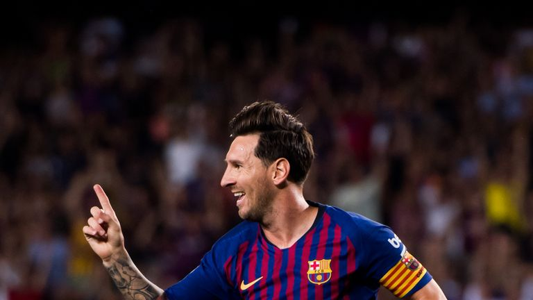 Lionel Messi had given Barcelona an early lead