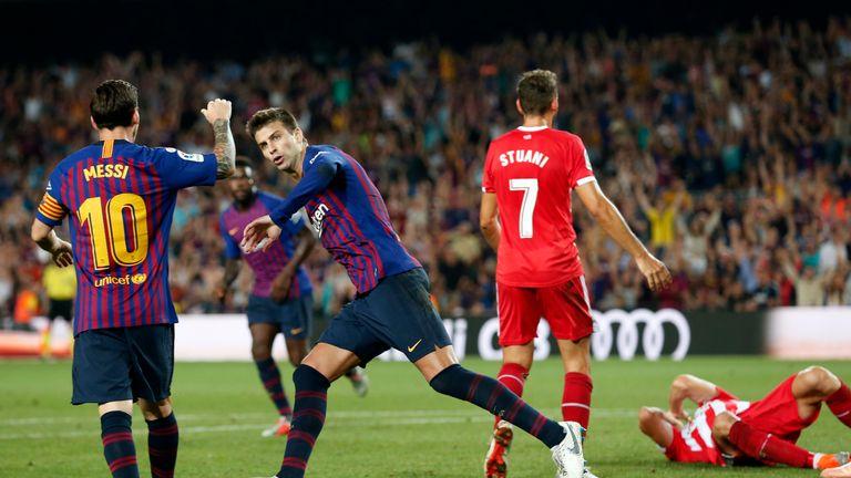 Gerard Pique drew Barcelona level at 2-2