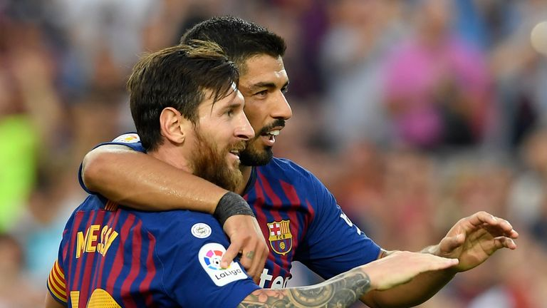 Barcelona Huesca Lionel Messi Luis Suarez