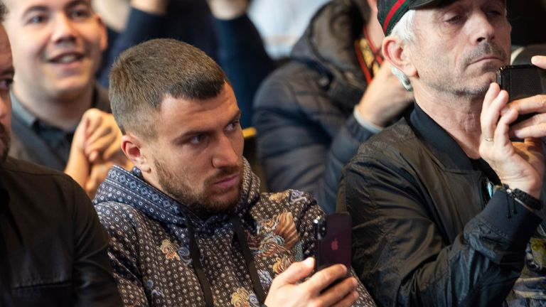 Lomachenko was at the Manchester press conference on Monday