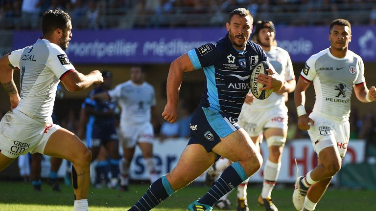 Louis Picamoles on the charge for Montpellier