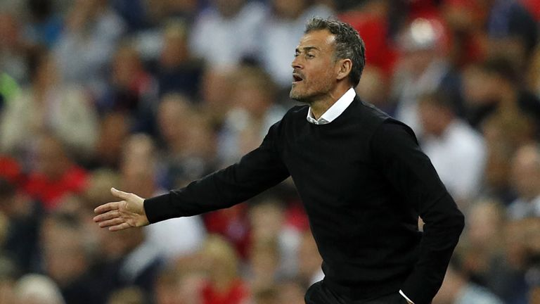 Luis Enrique said Spain deserved to beat England