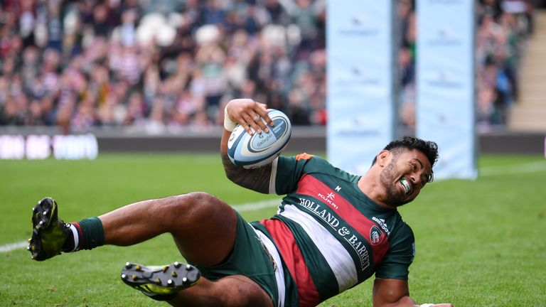 Manu Tuilagi scored a fine try for Leicester against Newcastle