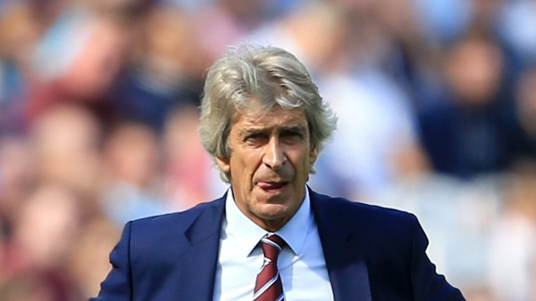 Manuel Pellegrini during the Premier League match between West Ham United and Wolverhampton Wanderers at London Stadium on September 1, 2018 in London, United Kingdom