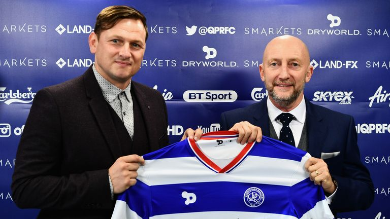 Newly appointed Queens Park Rangers manager Ian Holloway talks during a press conference at Loftus Road on November 16, 2016 in London, England.