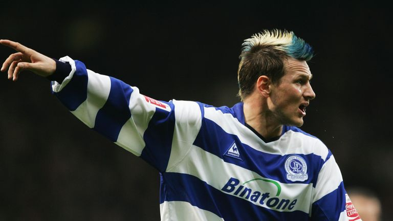 LONDON, ENGLAND - NOVEMBER 6:  Marc Bircham of Queens Park Rangers shouts instructions during the Coca Cola Championship match between West Ham United and Queens Park Rangers at Upton Park, on November 6, 2004 in London, England.  (Photo by Clive Mason/Getty Images) *** Local Caption *** Marc Bircham
