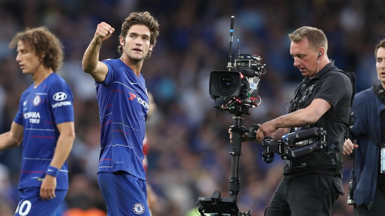 Marcos Alonso is in fine form for Chelsea