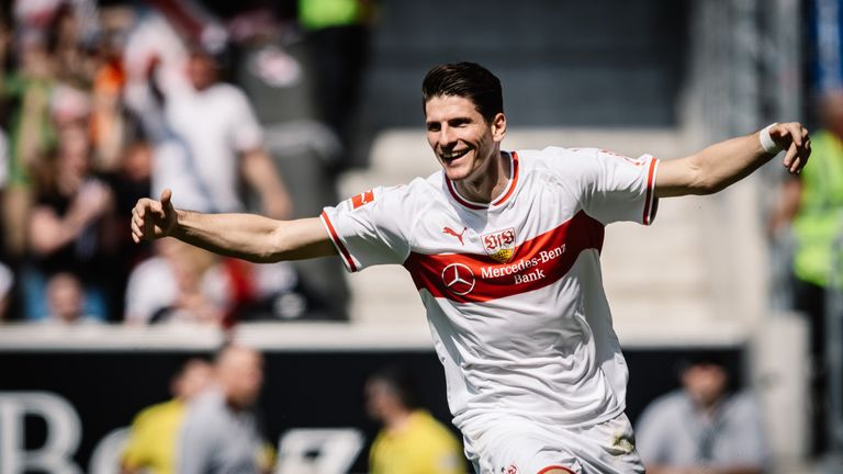 Mario Gomez scored twice for Stuttgart on Sunday