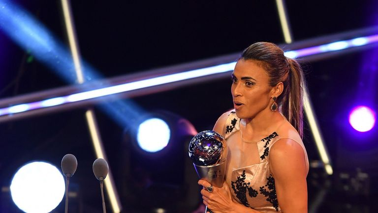 Kerr finishes ninth as Marta wins Federation Internationale de Football Association women's player of the year