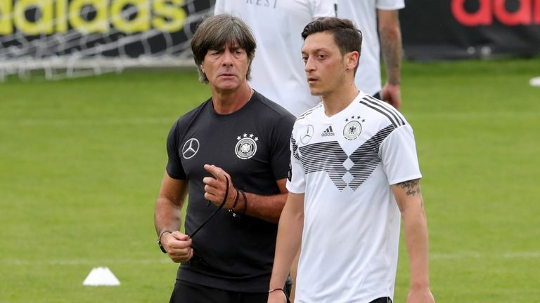 during a training session of the German national team at Sportanlage Rungg on day two of  the Southern Tyrol Training Camp on May 24, 2018 in Eppan, Italy.