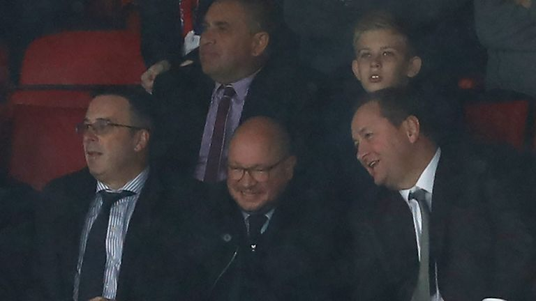 Mike Ashley was in the directors' box as Newcastle drew at Crystal Palace