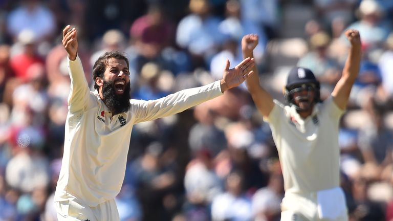 Moeen Ali was named player of the match at the Ageas Bowl