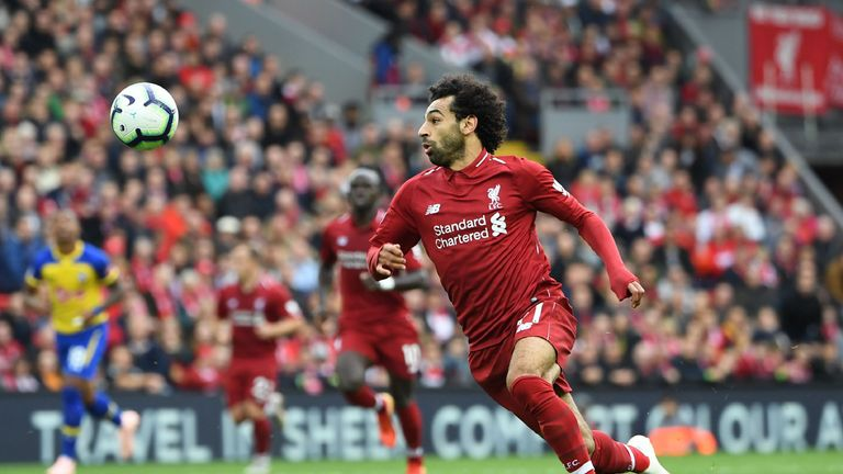 Chances created has helped boost Salah's points total so far