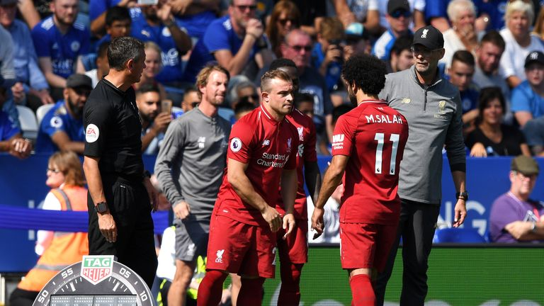 Shaqiri has been restricted to appearances from the substitutes' bench