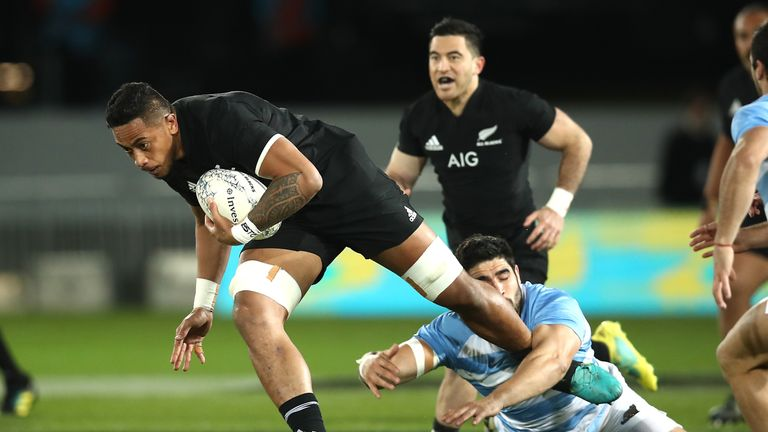 Shannon Frizell carried with purpose against Argentina on Saturday