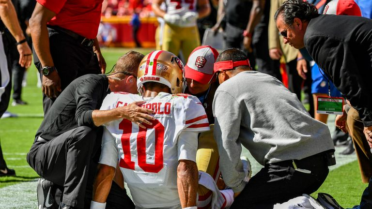 Jimmy Garoppolo will be back from injury next year and Bell would give the 49ers offense a huge company