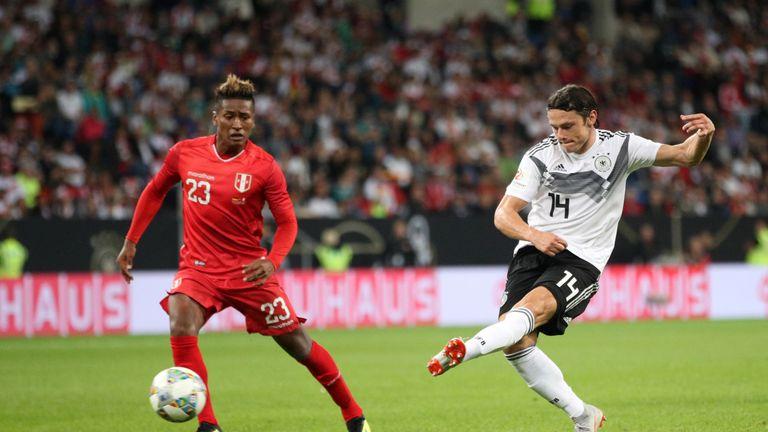 during the International Friendly match between Germany and Peru at Rhein-Neckar-Arena on September 9, 2018 in Sinsheim, Germany.