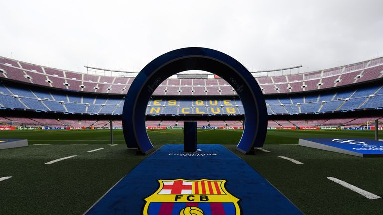 The Nou Camp is the home of Barcelona