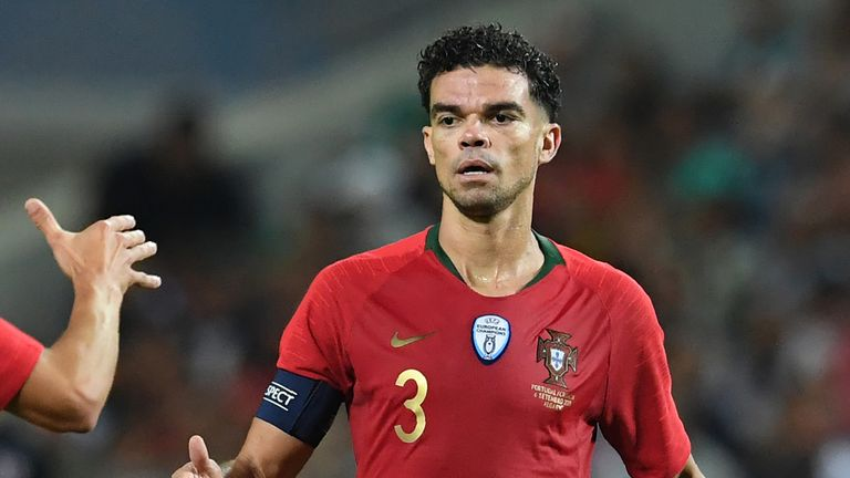 Stand-in captain Pepe scored Portugal's equaliser