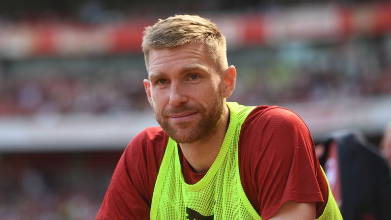 Per Mertesacker retired from playing at the end of last season