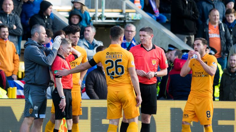 Assistant referee Calum Spence was struck by a coin during Rangers' 1-0 defeat at Livingston