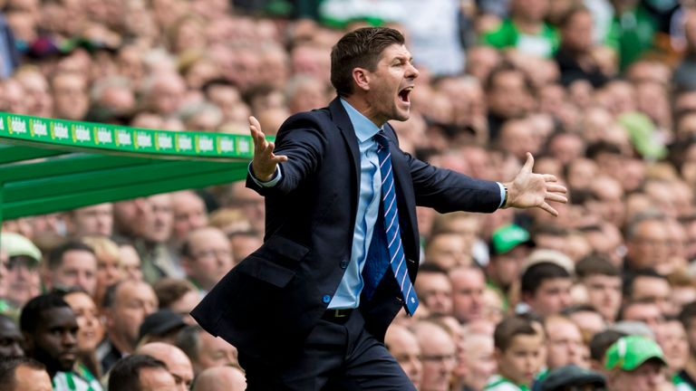 Rangers manager Steven Gerrard was left fuming with the officials after the Old Firm