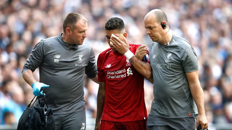 Roberto Firmino has told Sky Sports about the eye injury he sustained against Tottenham