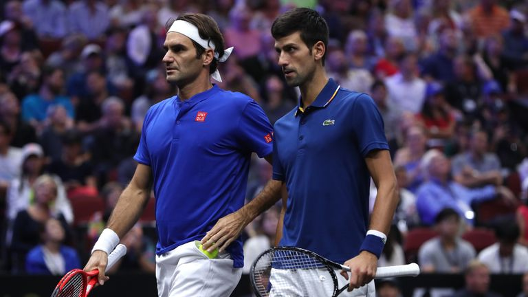 Federer says Novak Djokovic, who he played alongside at last year's Laver Cup, has helped push him become the player he is