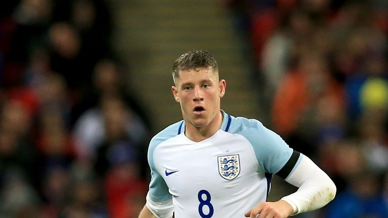 Ross Barkley in action for England in March 2016