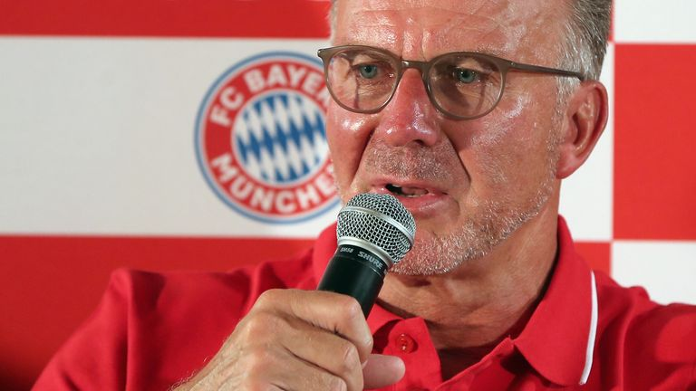 Bayern chief Karl-Heinz Rummenigge refused to give away too much on reports of a move for the France international