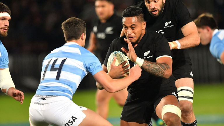 New Zealand's Shannon Frizell put in a man-of-the-match display the last time he faced the Pumas