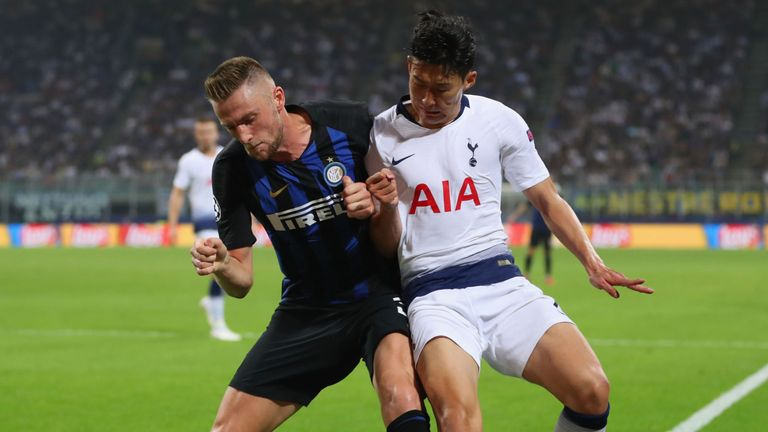 The Tottenham forward competes in the Champions League against Inter Milan