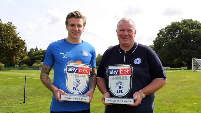 Peterborough pair Jason Cummings and Steve Evans win the Sky Bet League One Player and Manager of the Month awards